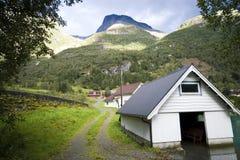 Capanna del pescatore, Norvegia Immagine Stock