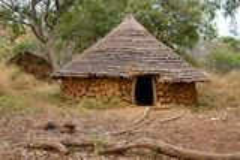 Capanna del Senegal Ethiolo Immagini Stock