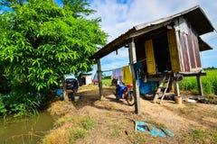 Capanna dell'agricoltore della Tailandia Fotografia Stock