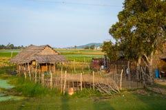 Capanna dell'agricoltore sul campo Fotografia Stock Libera da Diritti