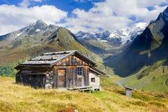 Capanna dell'azienda agricola in Tirol del sud Fotografia Stock