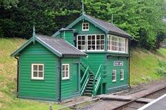 Capanna della cabina segnaletica e della lampada della stazione di Rothley fotografie stock libere da diritti