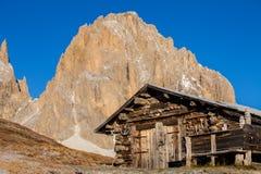 Capanna della montagna fotografia stock libera da diritti