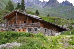Capanna della montagna nel Tirolo del sud, Italia Fotografia Stock Libera da Diritti