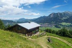 Capanna della montagna sopra Oberstdorf Immagine Stock