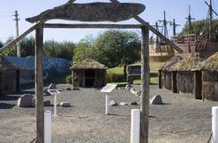 Capanna della paglia al faro di Arecibo Fotografia Stock