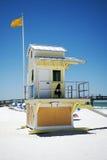 Capanna della spiaggia su una spiaggia di Florida Fotografia Stock Libera da Diritti