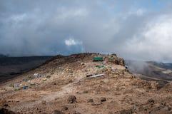 Capanna di Barafu e campo, Kilimanjaro Fotografie Stock Libere da Diritti