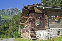 Capanna di Dechant nel Tirolo Fotografia Stock