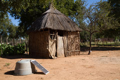Capanna di Kalahari in Africa Fotografie Stock Libere da Diritti