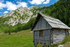 Capanna di legno della montagna Fotografia Stock Libera da Diritti