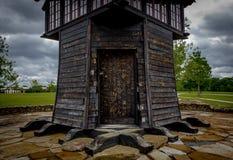 Capanna di legno in parco Fotografia Stock