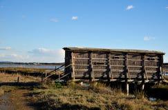 Capanna di legno per il birdwatching Fotografie Stock