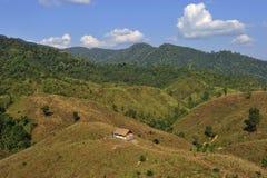 Capanna di tradizione sulla montagna nella provincia di Nan, Nord della Tailandia Fotografie Stock Libere da Diritti
