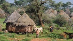 Capanna etiopica del villaggio Immagine Stock Libera da Diritti