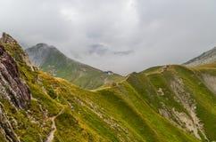 Capanna Kaiserjochhaus della montagna nelle alpi di Lechtal, Tirolo del nord, Austria Fotografie Stock