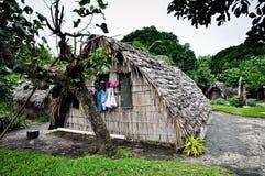 Capanna nel villaggio di Ireupuow Fotografie Stock