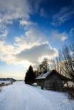 Capanna nell'inverno Fotografia Stock Libera da Diritti