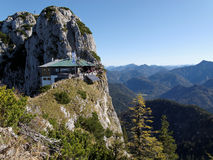 Capanna nelle alpi bavaresi Fotografie Stock