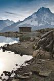 Capanna nelle alpi francesi Fotografia Stock Libera da Diritti