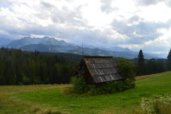 Capanna nelle montagne Immagine Stock Libera da Diritti