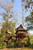 Capanna sugli'alberi d'alloggio a Mae Chaem Fotografia Stock Libera da Diritti