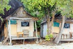 Capanna tropicale dell'ingresso Fotografia Stock Libera da Diritti