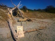 Capanna tropicale della spiaggia Immagini Stock Libere da Diritti