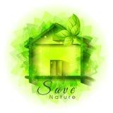 Capanna verde per la natura di risparmi Immagini Stock