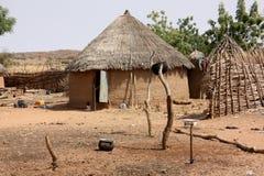 Capanne africane del villaggio Immagine Stock