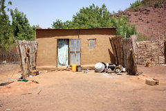 Capanne africane del villaggio Fotografia Stock Libera da Diritti