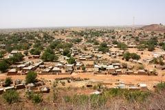 Capanne africane del villaggio Immagine Stock Libera da Diritti