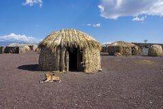 Capanne africane tradizionali Fotografia Stock Libera da Diritti