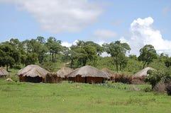 Capanne africane - Zambia fotografia stock libera da diritti