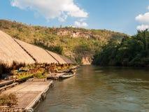 Capanne al fiume Kwai, Tailandia Fotografia Stock