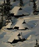 Capanne alpine Immagini Stock Libere da Diritti