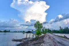Capanne asiatiche sudorientali della zona umida della siluetta della lampadina della foto Fotografia Stock