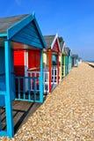 Capanne britanniche della spiaggia Fotografia Stock Libera da Diritti