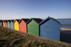 Capanne Colourful della spiaggia Immagini Stock Libere da Diritti