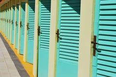 Capanne della spiaggia Fotografie Stock