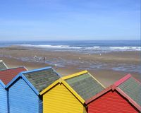 Capanne della spiaggia Fotografia Stock