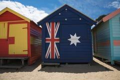 Capanne della spiaggia, Australia Immagine Stock