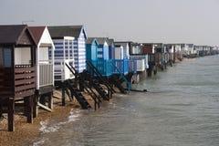Capanne della spiaggia, baia di Thorpe Fotografie Stock Libere da Diritti