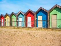Capanne della spiaggia a Blyth Fotografie Stock Libere da Diritti