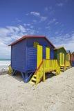 Capanne della spiaggia, Cape Town Immagini Stock