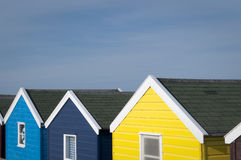 Capanne della spiaggia della Suffolk Immagine Stock Libera da Diritti
