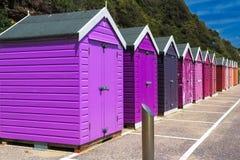 Capanne della spiaggia di Bournemouth Fotografia Stock Libera da Diritti