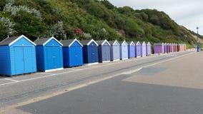 Capanne della spiaggia di Bournemouth Immagini Stock