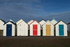 Capanne della spiaggia di Goodrington fotografie stock