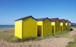 Capanne della spiaggia di Littlehampton immagini stock libere da diritti